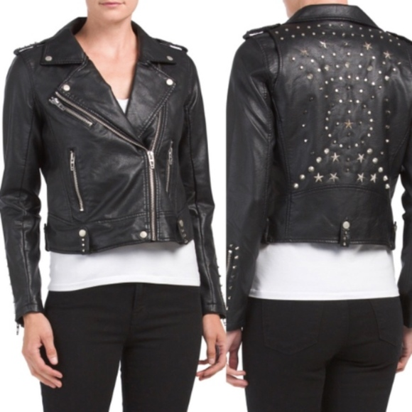 Blank NYC Jackets & Blazers - Black NYC Studded Faux Leather Jacket